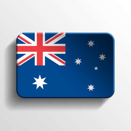 flag australia: Australia 3D button