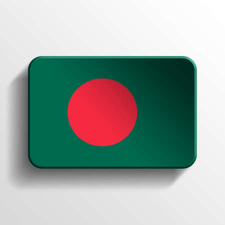Bangladesh 3D button photo