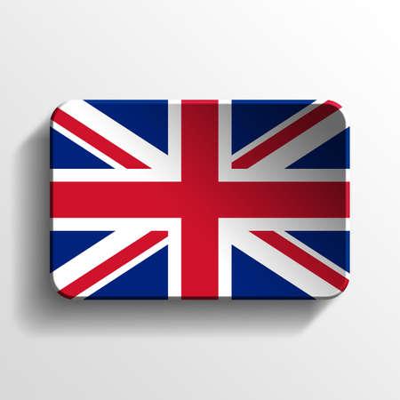 United Kingdom 3D button Stock Photo