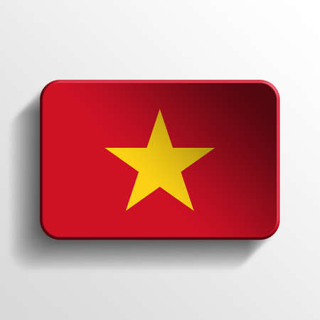 Vietnam 3D button photo