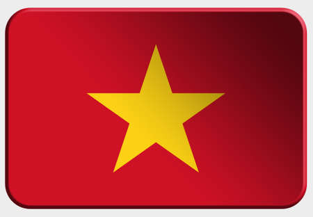 Vietnam 3D button  on white background photo