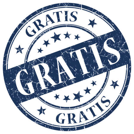 GRATIS Blue stamp