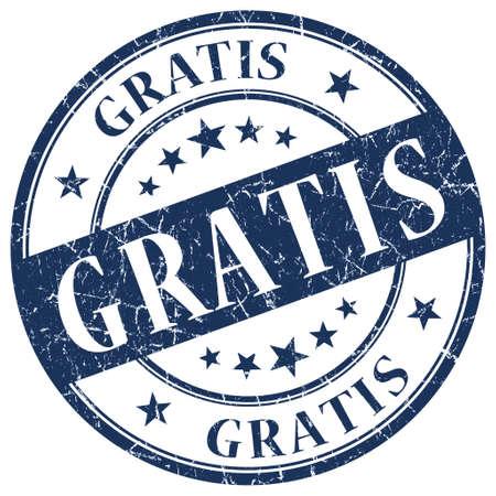 freebie: GRATIS Blue stamp