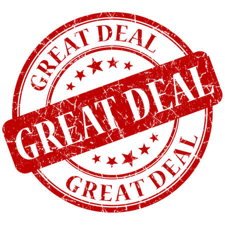 great deal: GREAT DEAL red stamp