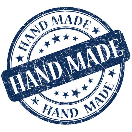 Hand Made blue stamp photo
