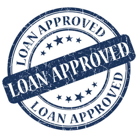 LOAN APPROVED Blue stamp Stock Photo - 21555613