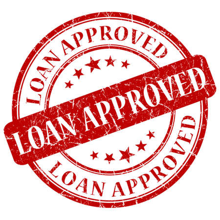 approval label: LOAN APPROVED red stamp