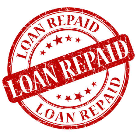 LOAN REPAID red stamp Stock Photo - 21555616