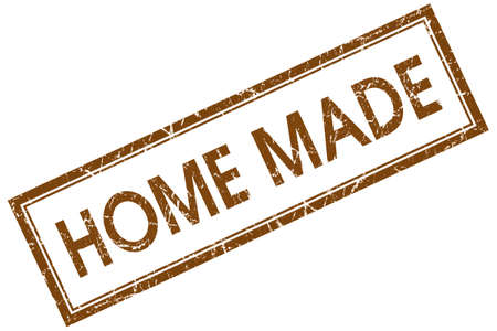 home made: home made brown square stamp Stock Photo