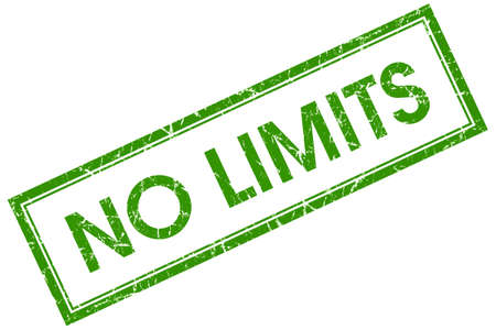 no limits green square stamp photo