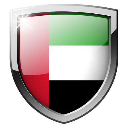 United Arab Emirates Shield Stock Photo - 21555718