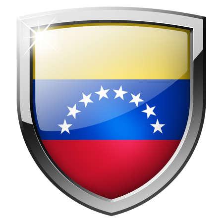 bandera de venezuela: Venezuela escudo Foto de archivo
