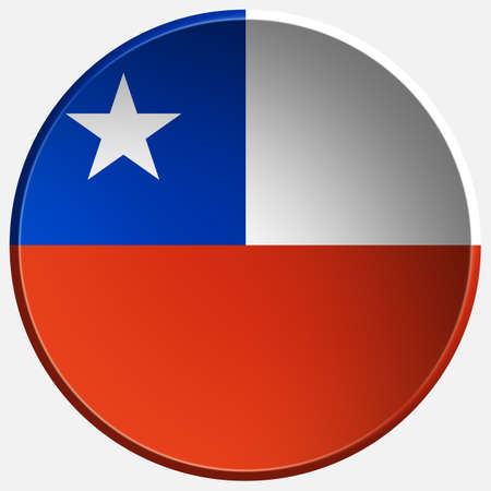 chile 3d round button photo