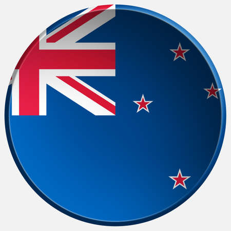 new zealand 3d round button photo