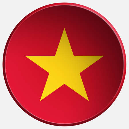 vietnam 3d round button photo