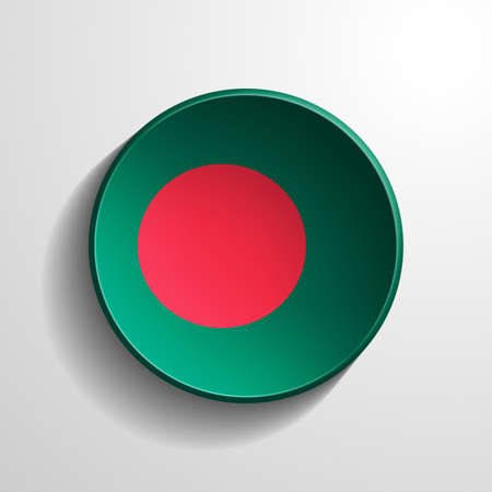 Bangladesh 3d Round Button photo
