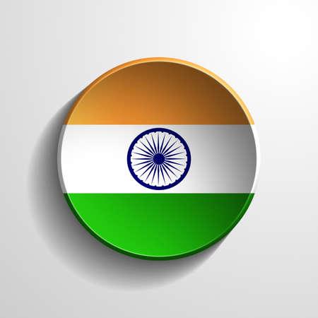 india 3d: India 3d Round Button Stock Photo