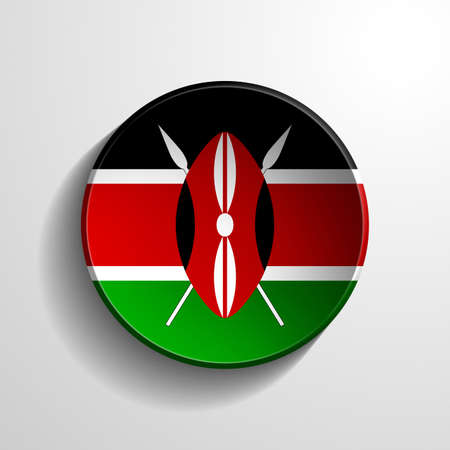 Kenya 3d Round Button photo