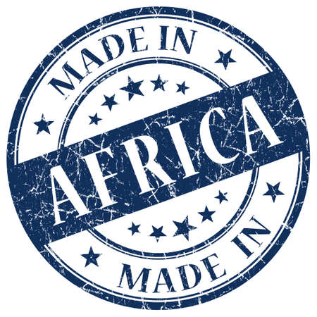 Made In Africa blue stamp photo