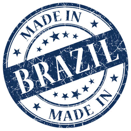 Made In Brazil Blue stamp photo
