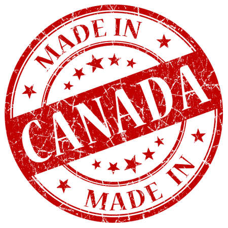 canada stamp: Made In Canada Red stamp