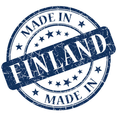 Made In Finland blue stamp photo