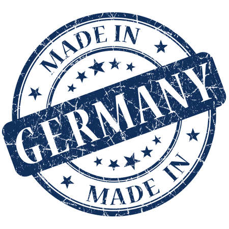 Made In Germany Blue stamp photo