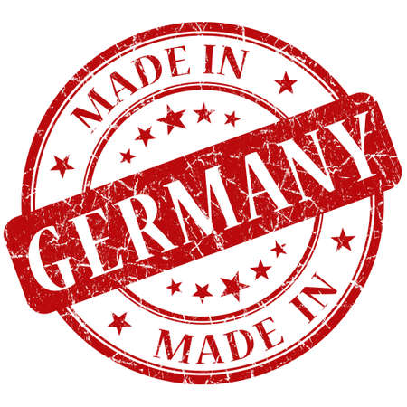 Made In Germany red stamp photo