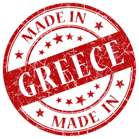 made in greece stamp: Made In Greece red stamp Stock Photo