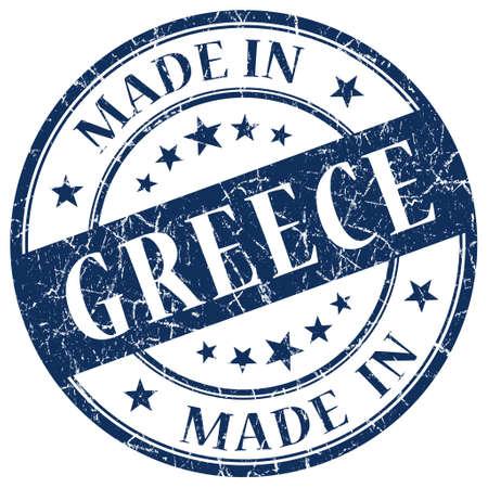 made in greece stamp: Made In Greece blue stamp