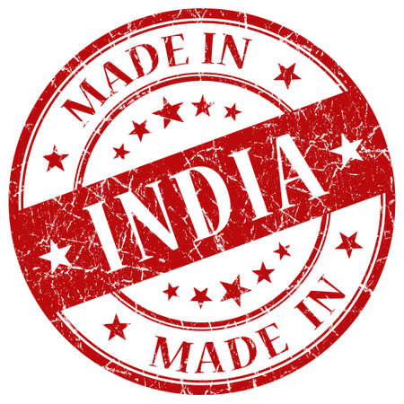 Made In India red stamp photo
