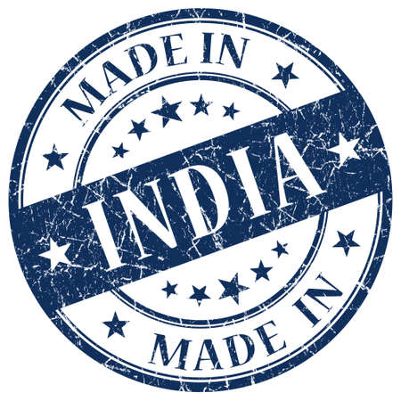 Made In India blue stamp photo