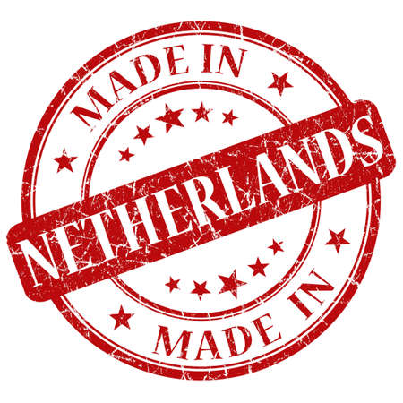 made in netherlands: Made In Netherlands red stamp