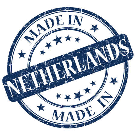made in netherlands: Made In Netherlands blue stamp Stock Photo
