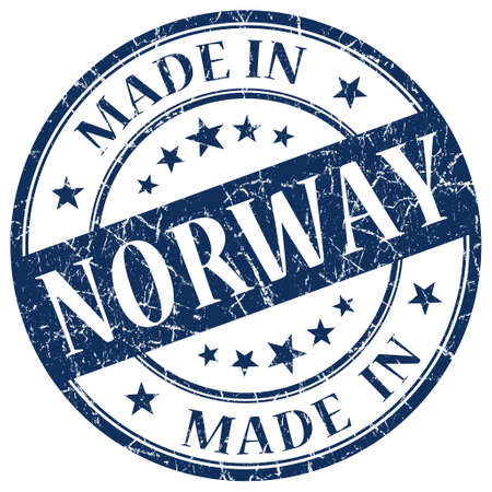 Made In Norway blue stamp photo