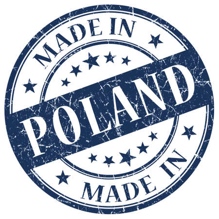 Made In Poland blue stamp photo