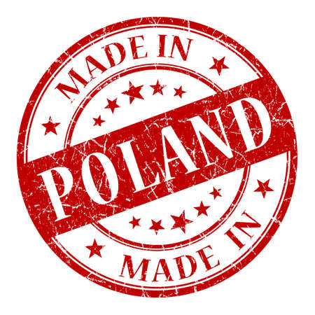 Made In Poland red stamp photo