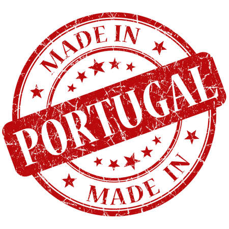 made in portugal: Made In Portugal red stamp Stock Photo