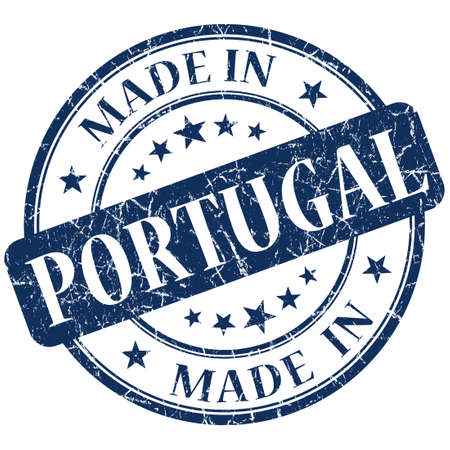 Made In Portugal blue stamp photo