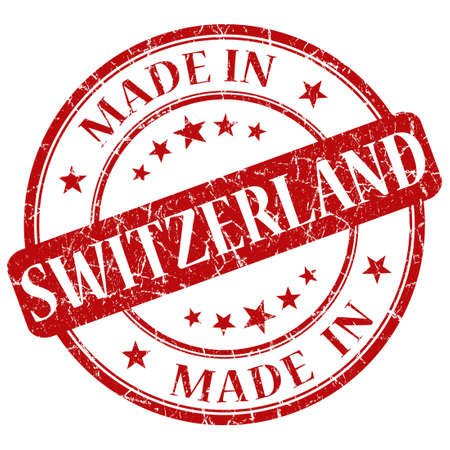 Made In Switzerland red stamp photo