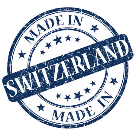 Made In Switzerland blue stamp photo