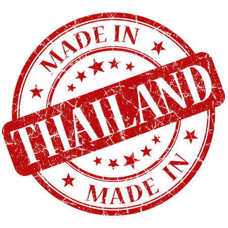 Made In Thailand red stamp photo