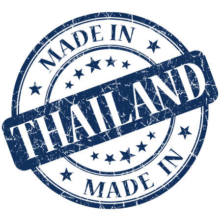 Made In Thailand blue stamp photo