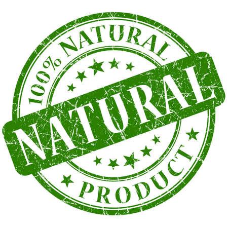 자연 스탬프 녹색