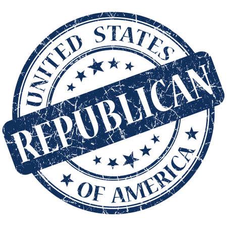 republican: Republican Blue stamp