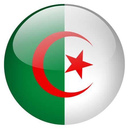 algeria: Algeria Button Stock Photo