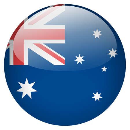 australia flag: Australia Button