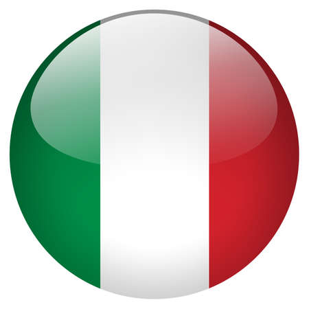flag of italy: Italy Button Stock Photo