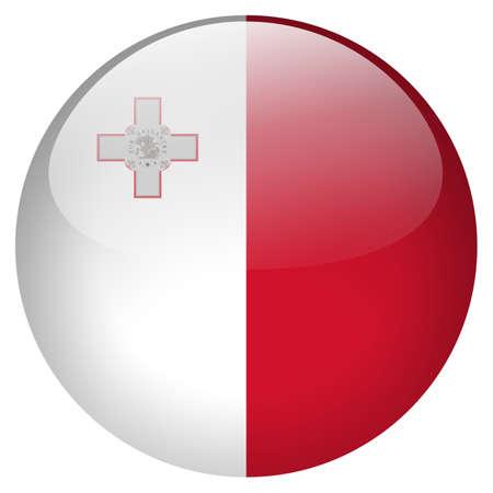 malta flag: Malta Flag Stock Photo