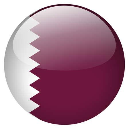 Qatar button Stock Photo - 21752636